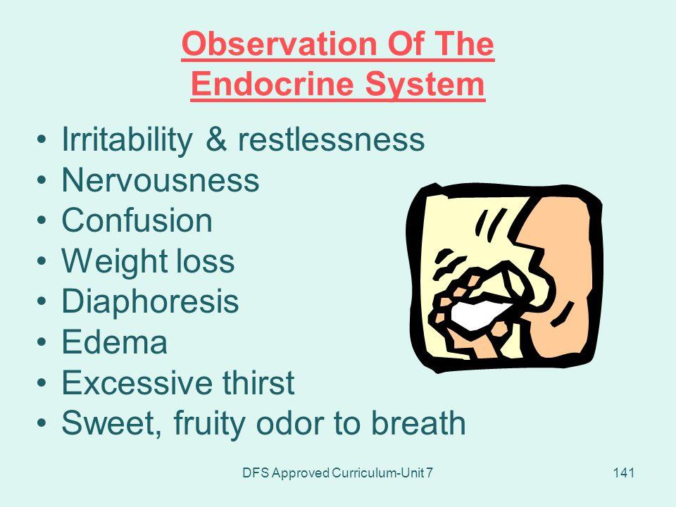 Observation Of The Endocrine System