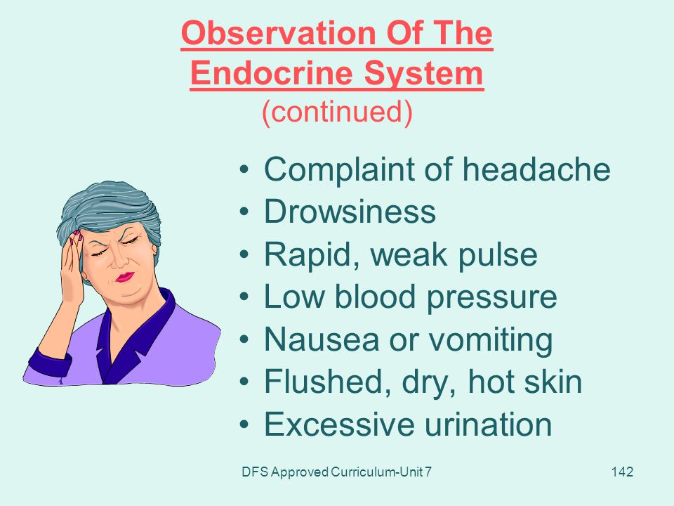 Observation Of The Endocrine System (continued)
