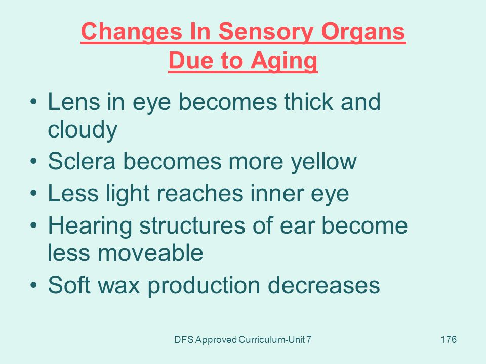 Changes In Sensory Organs Due to Aging
