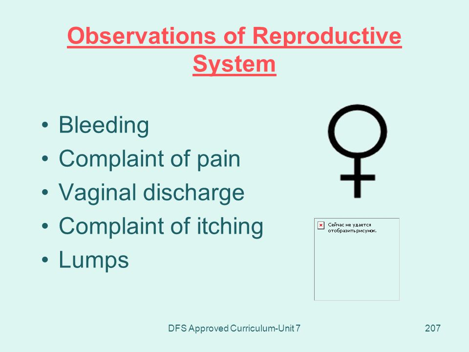 Observations of Reproductive System
