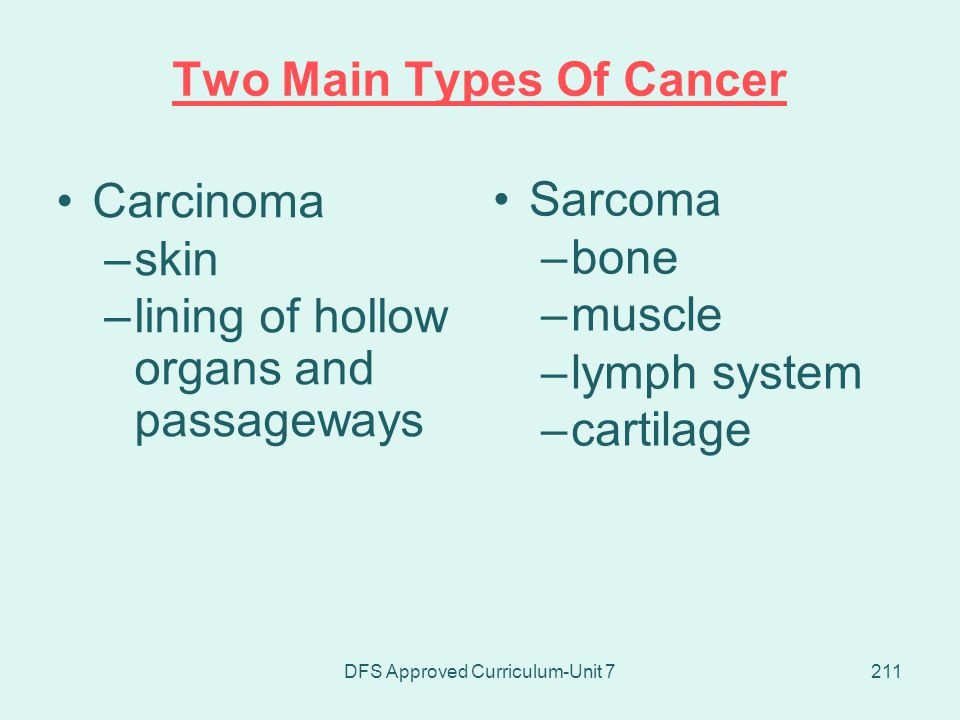 Two Main Types Of Cancer