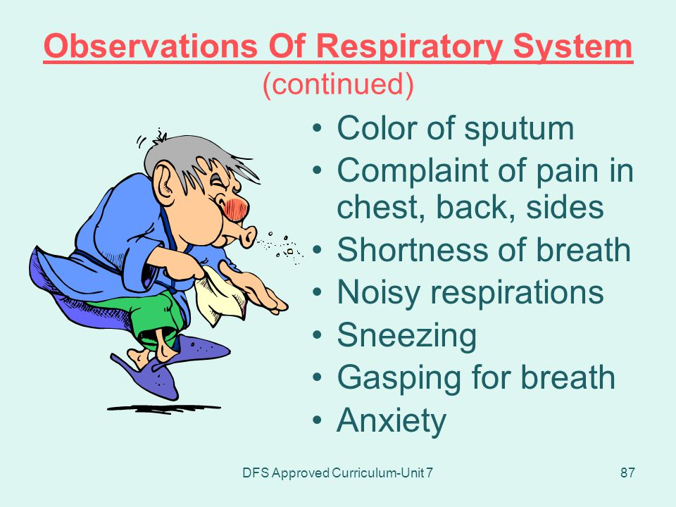 Observations Of Respiratory System (continued)