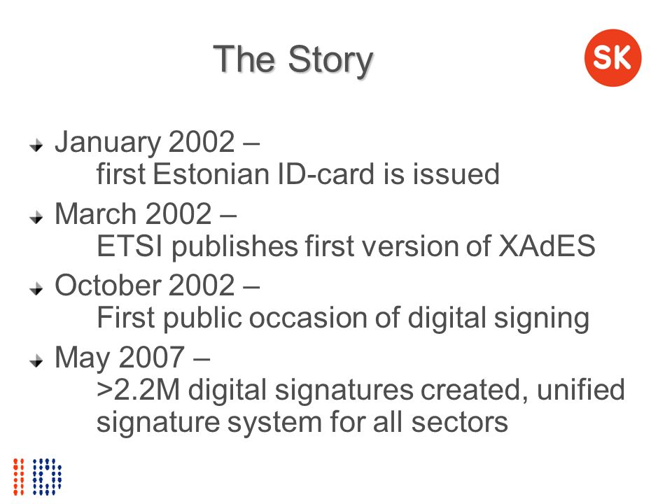 The Story January 2002 – first Estonian ID-card is issued
