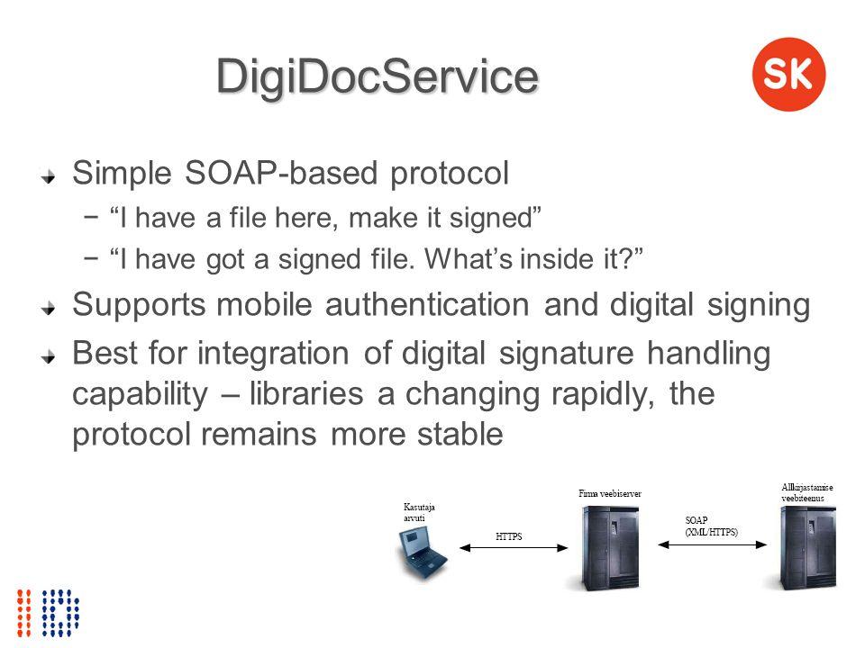 DigiDocService Simple SOAP-based protocol