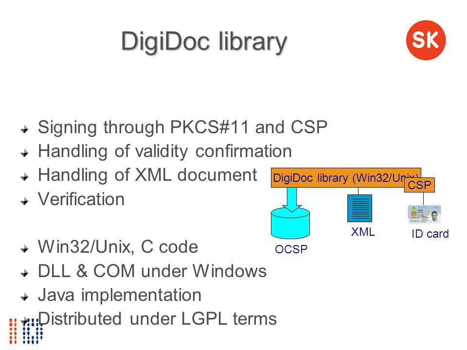 DigiDoc library (Win32/Unix)