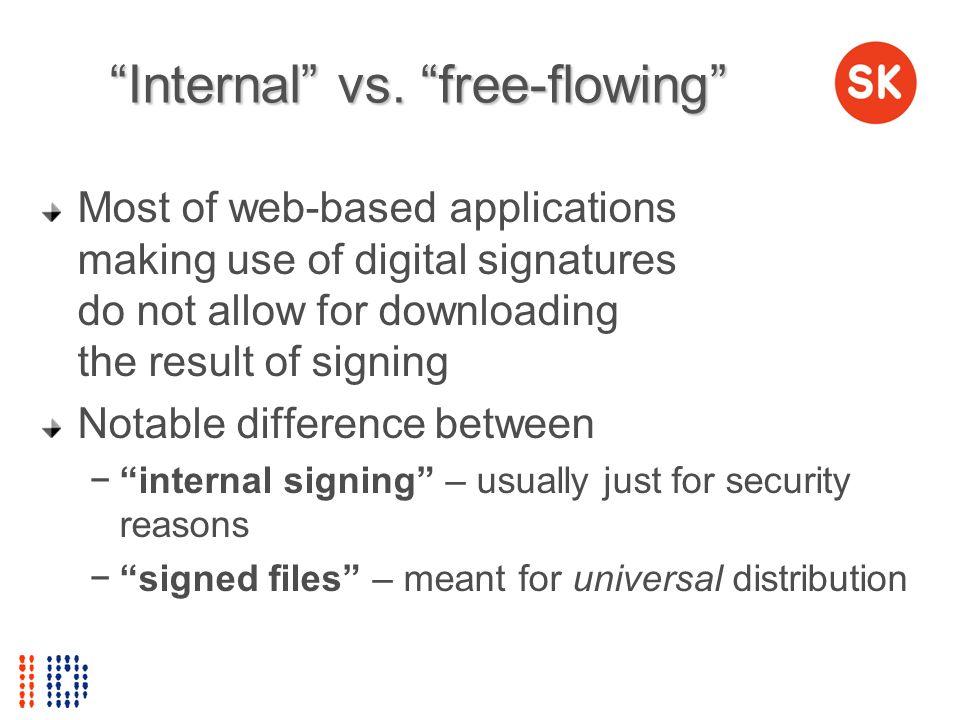 Internal vs. free-flowing
