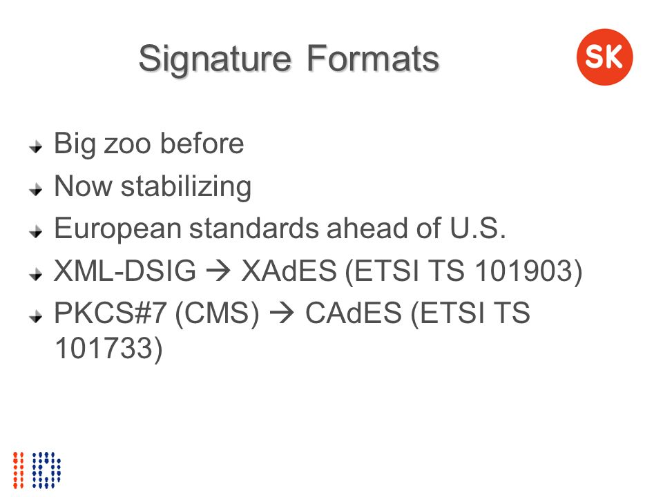 Signature Formats Big zoo before Now stabilizing