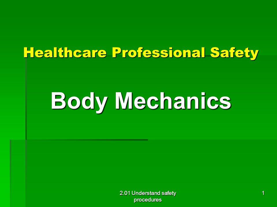 Body Mechanics Healthcare Professional Safety