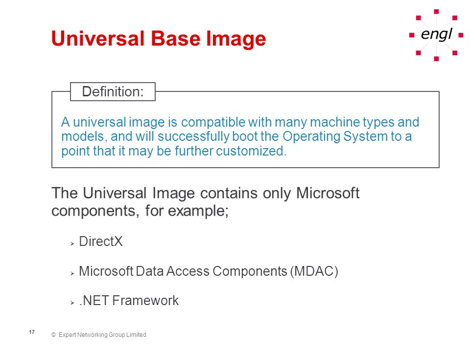 Universal Base Image Definition: