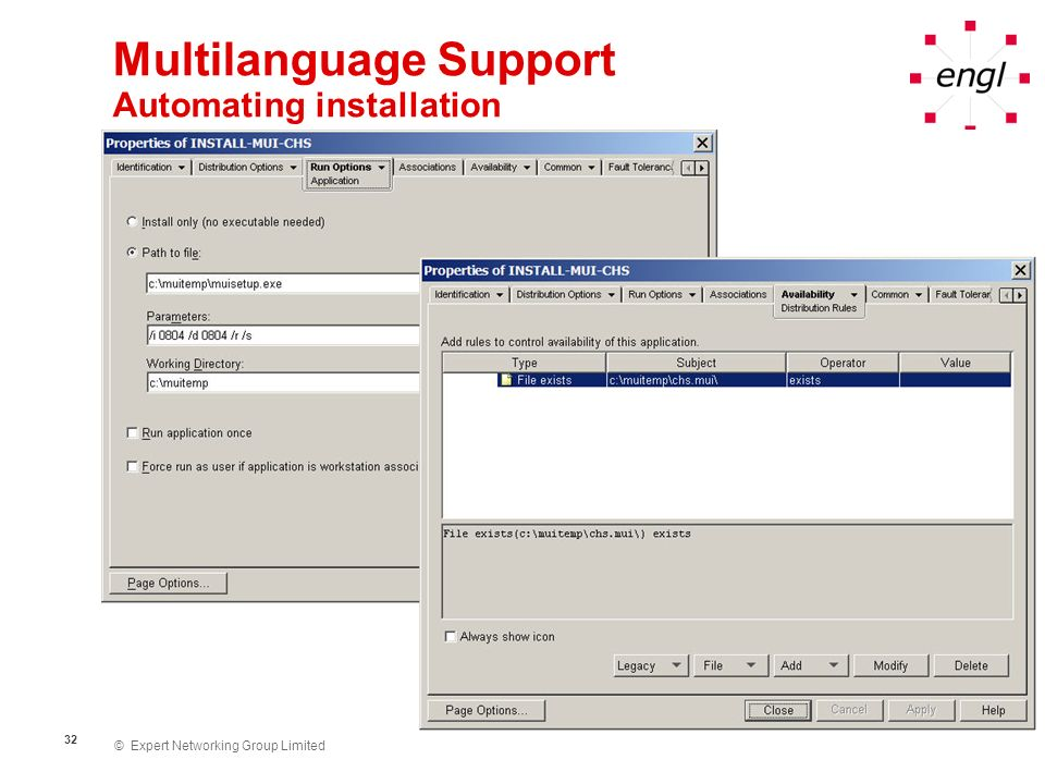 Multilanguage Support Automating installation