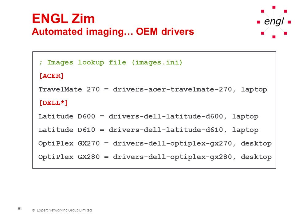 ENGL Zim Automated imaging… OEM drivers