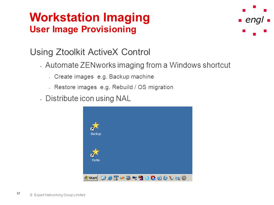 Workstation Imaging User Image Provisioning