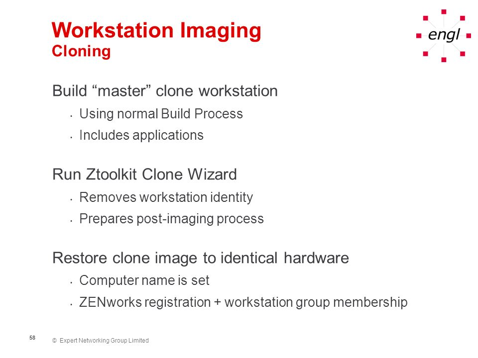 Workstation Imaging Cloning