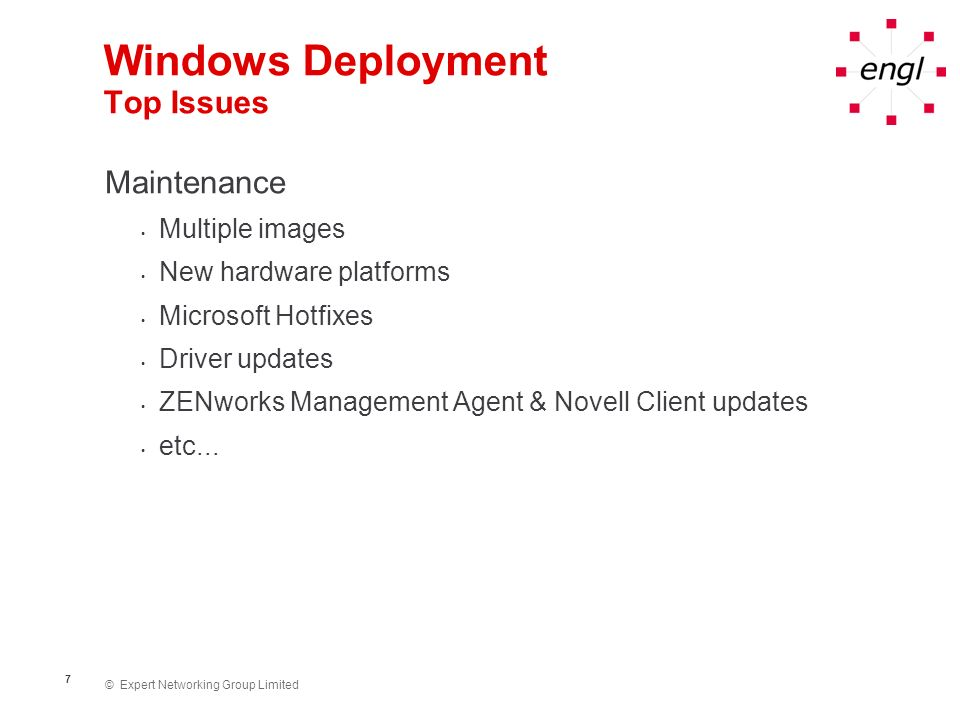 Windows Deployment Top Issues