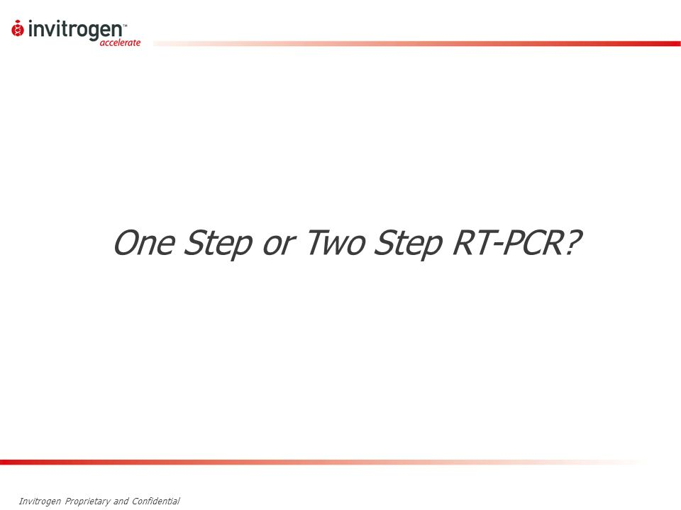 One Step or Two Step RT-PCR