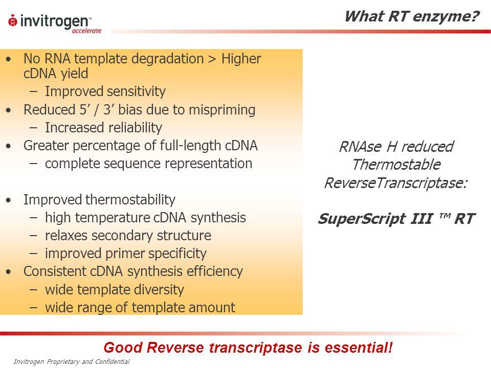 Good Reverse transcriptase is essential!