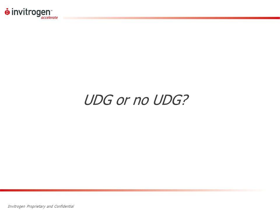 UDG or no UDG