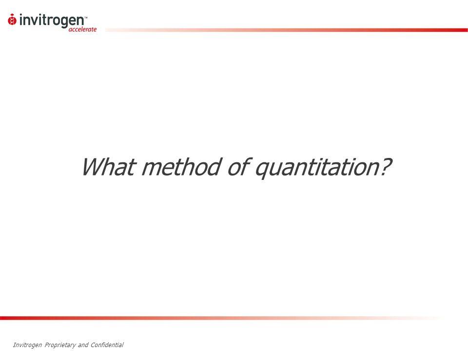 What method of quantitation