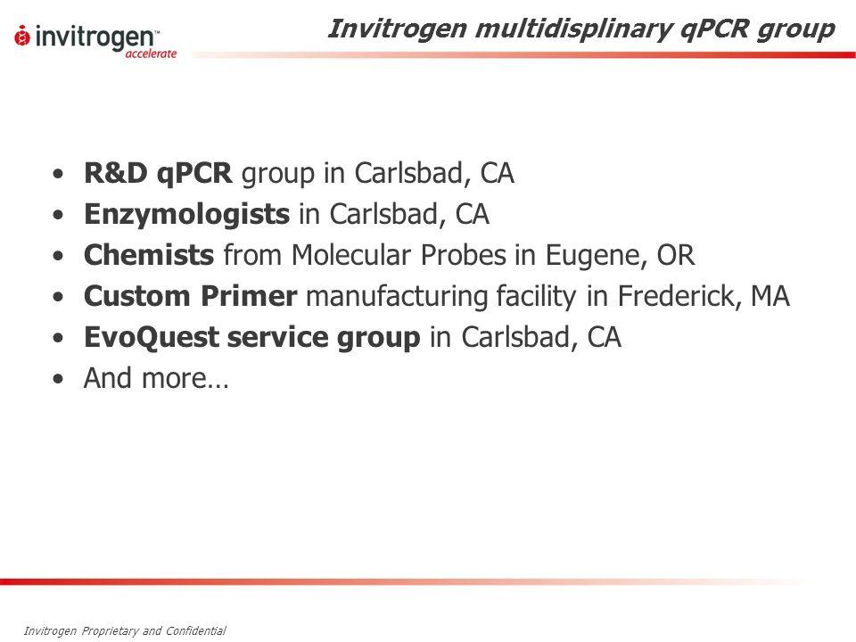 Invitrogen multidisplinary qPCR group