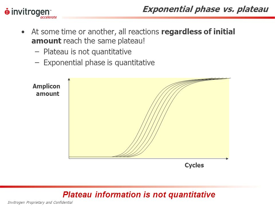 Exponential phase vs. plateau