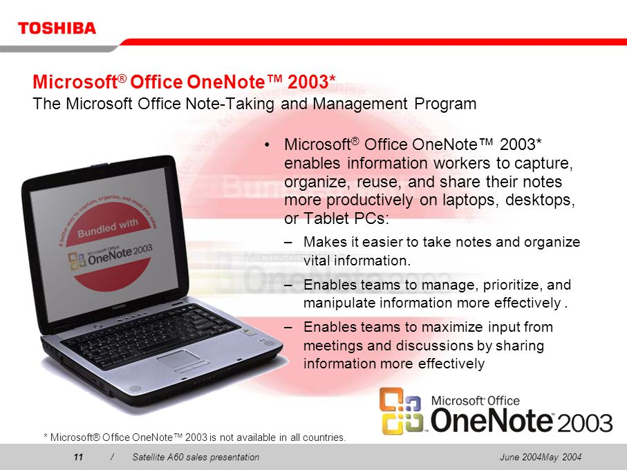 Microsoft® Office OneNote™ 2003