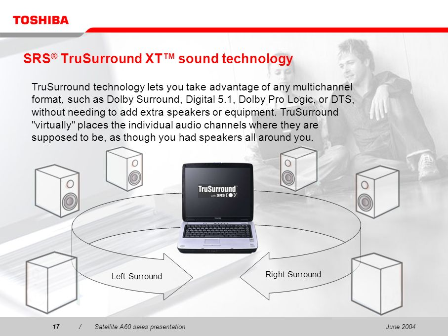 SRS® TruSurround XT™ sound technology