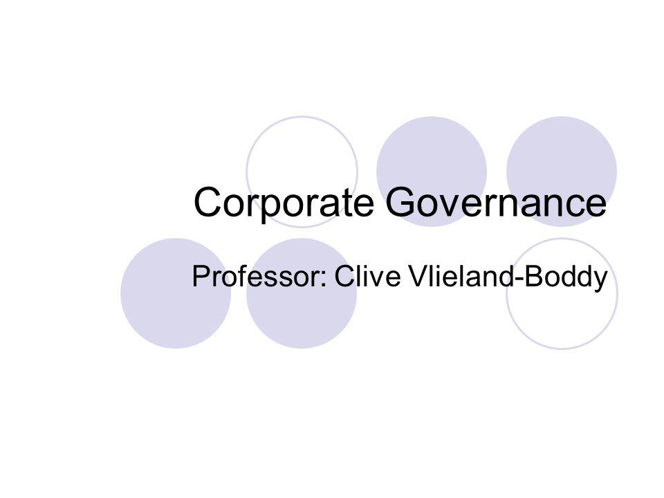 Professor: Clive Vlieland-Boddy