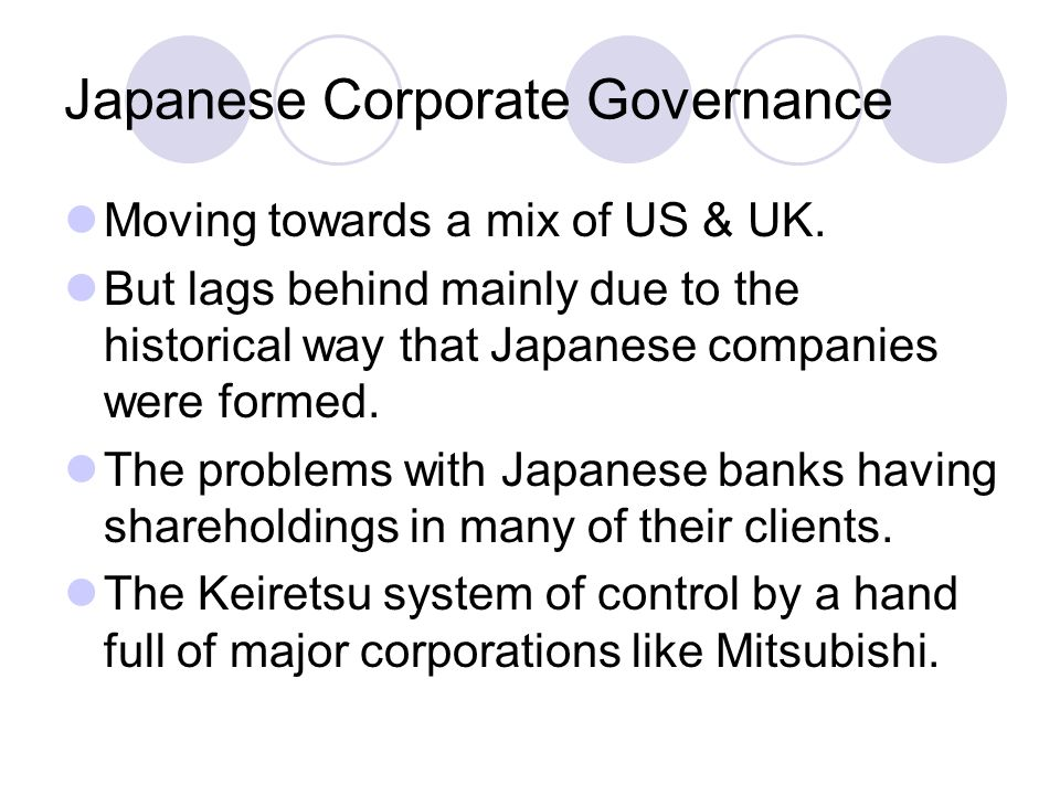 Japanese Corporate Governance