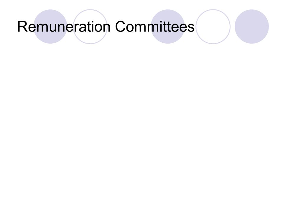 Remuneration Committees