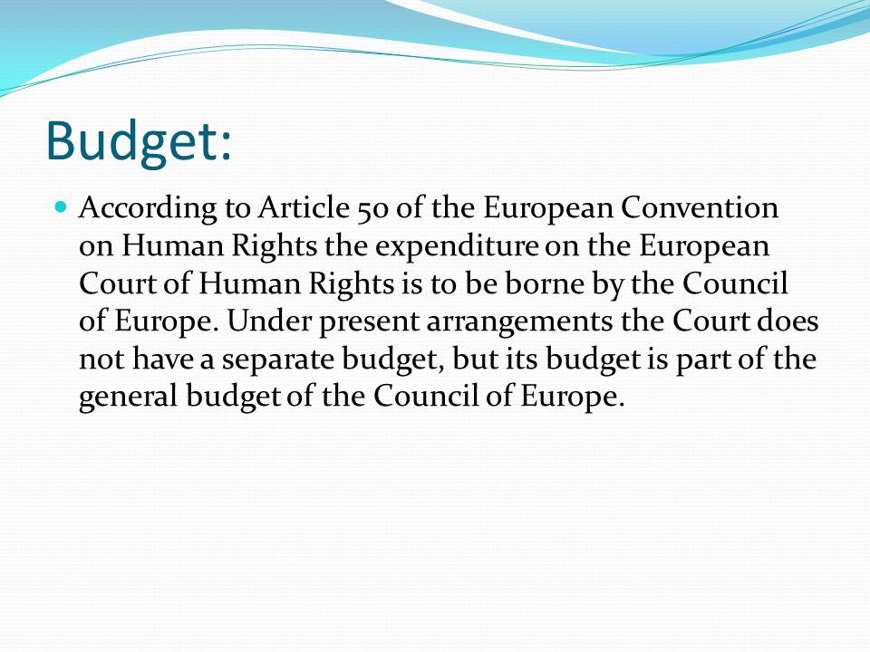 Budget: