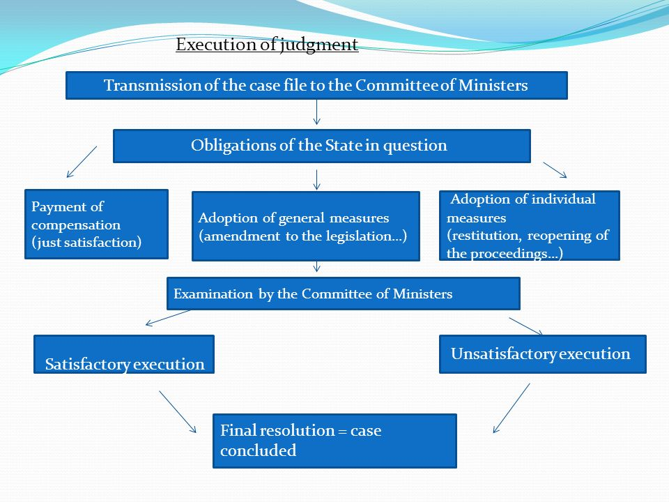 Transmission of the case file to the Committee of Ministers