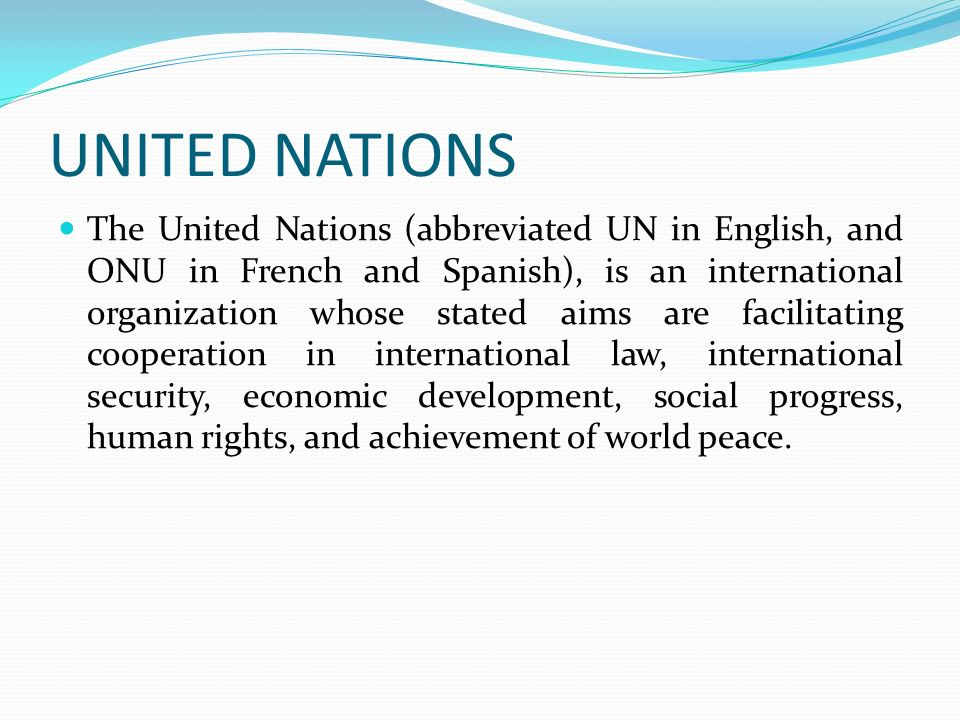 the role of the united nations in the development of international law In this article peacekeeping in international law  blokker and schrijver 2005 focuses on the role of the un  the united nations and the development of.
