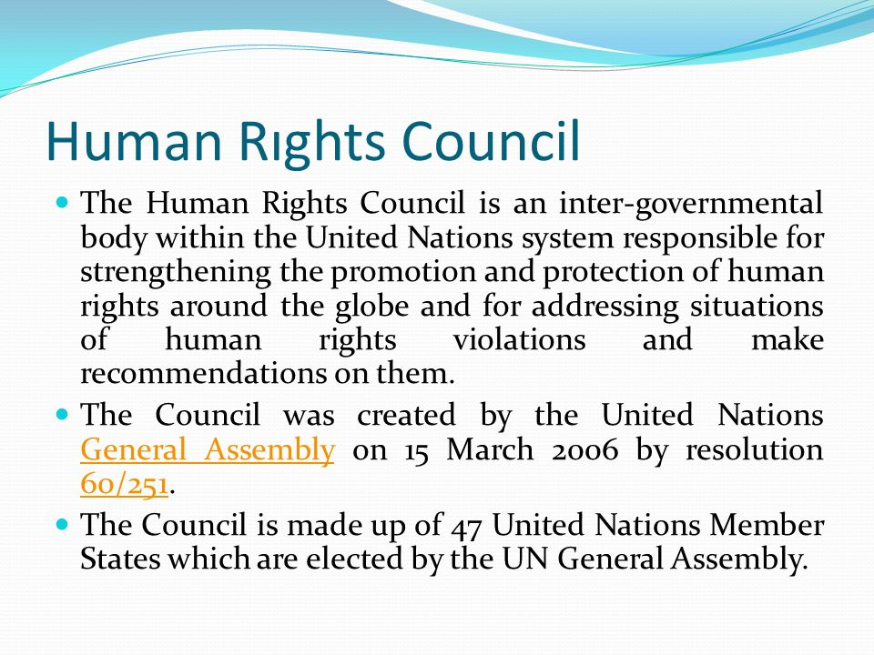 Human Rıghts Council