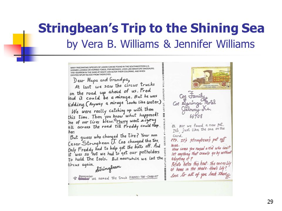 Stringbean's Trip to the Shining Sea. by Vera B