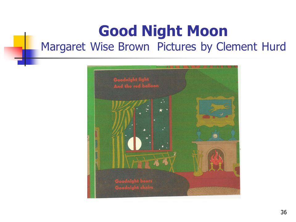 Good Night Moon Margaret Wise Brown Pictures by Clement Hurd