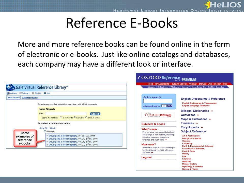 Reference E-Books