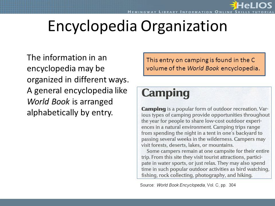 Encyclopedia Organization