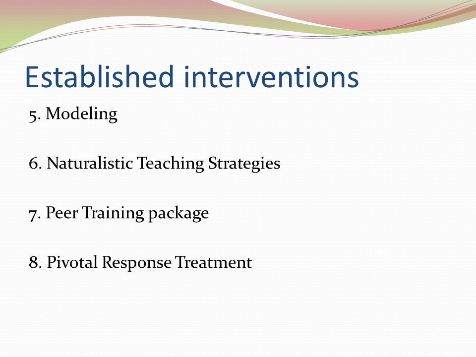 Established interventions