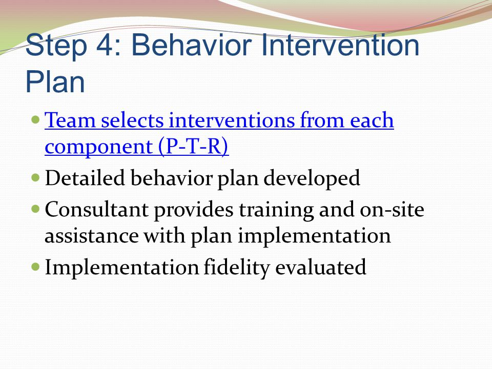 Step 4: Behavior Intervention Plan