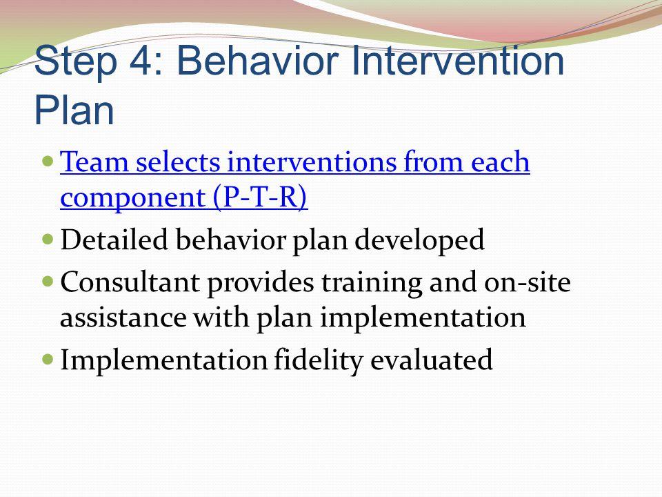 Step 4: Behavior Intervention Plan