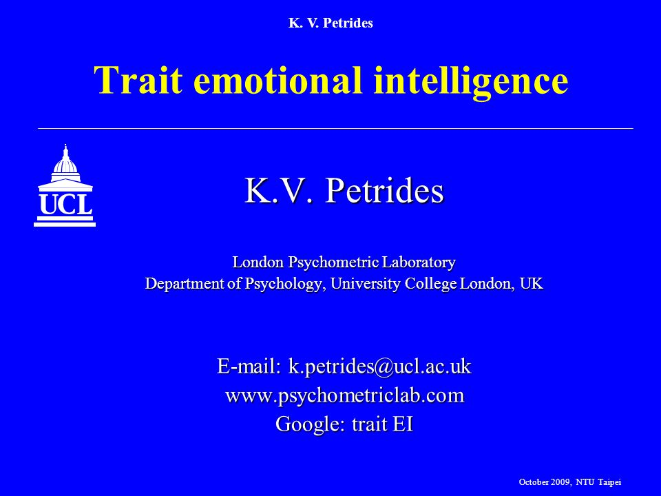 Trait emotional intelligence