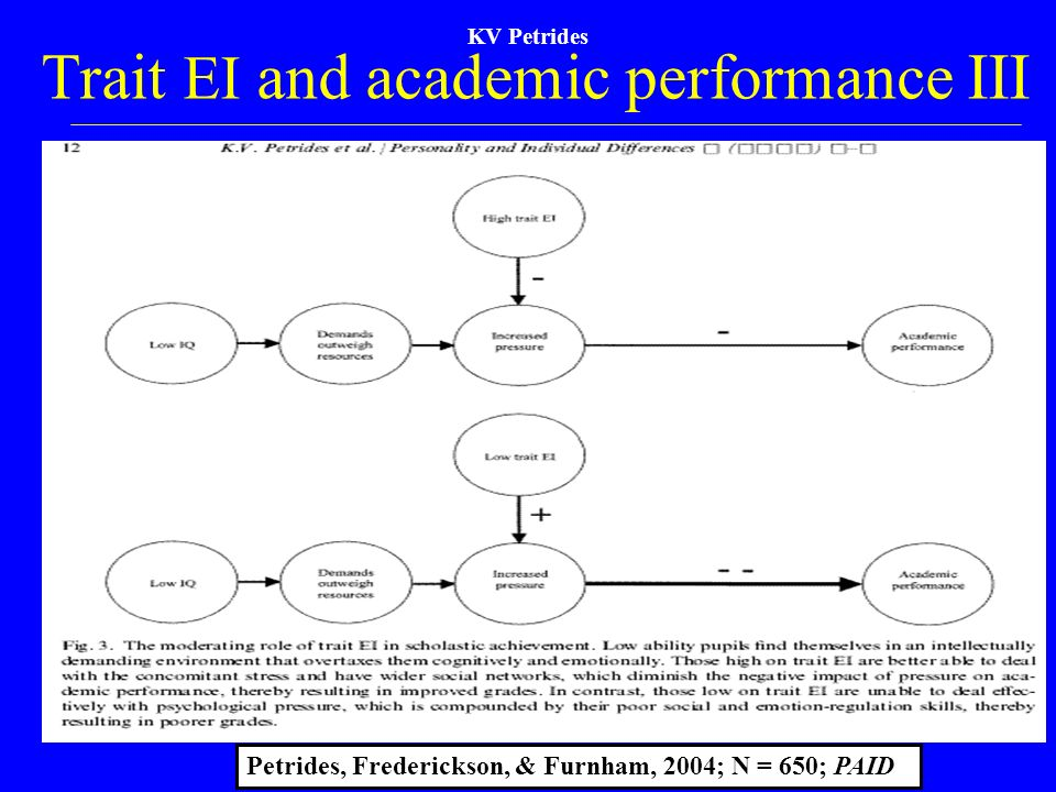 Trait EI and academic performance III