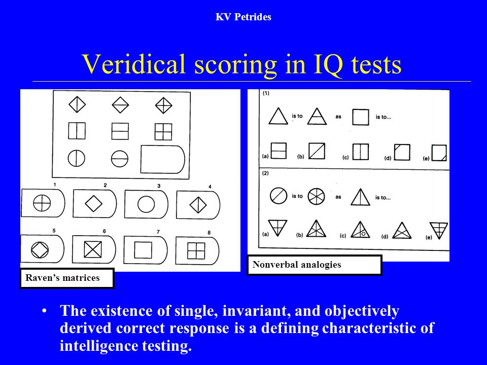 Veridical scoring in IQ tests
