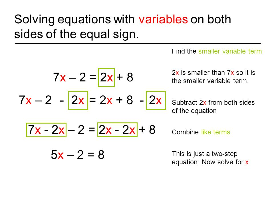 Solving Equations On Both Sides With Variables Jennarocca – Equations with Variables on Both Sides Worksheet