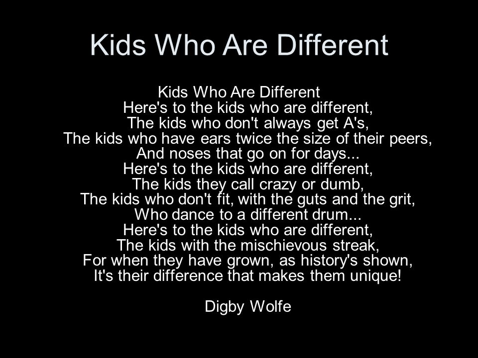 Kids Who Are Different