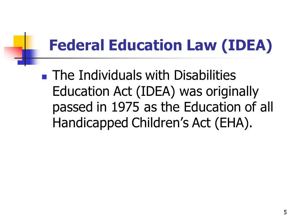 Federal Education Law (IDEA)