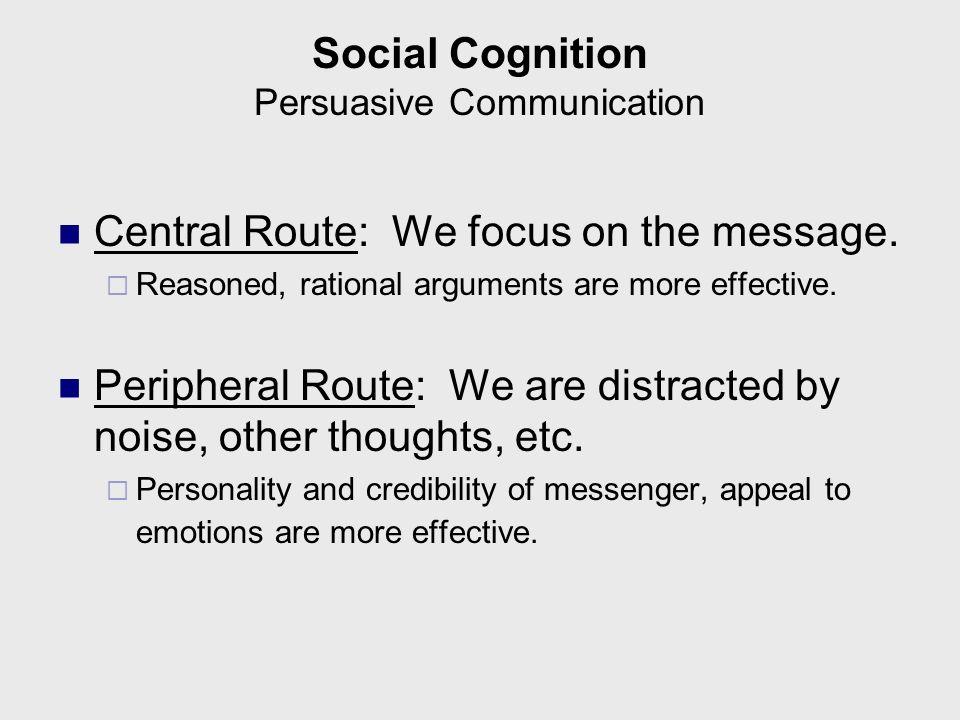 Social Cognition Persuasive Communication