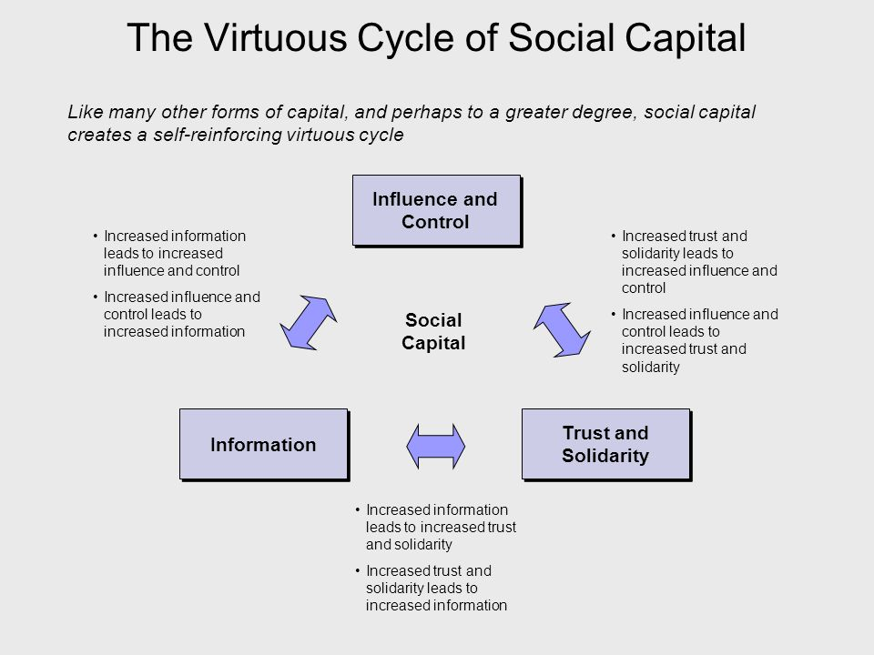 The Virtuous Cycle of Social Capital