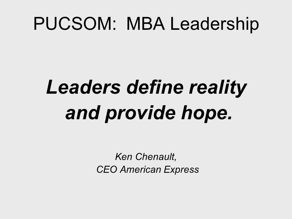 PUCSOM: MBA Leadership