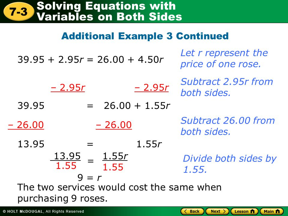 Additional Example 3 Continued